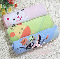 Floral Washcloths Medium baby blankets Kids girls' towel robe boy bath towel blankets kid bath towels 3 in 1 0718A shaoy