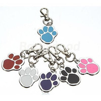 Wholesale Personalized Paw Foot Print Puppy Pet Dog Doggie Cat ID Collar Name Disc Tag
