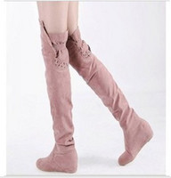 Wholesale New Hot Sale fashion Knight sexy jackboot large size increased wedge knee boots EU34