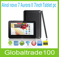 Wholesale 7 quot Tablet PC Ainol novo Aurora II IPS Dual Core Android Capacitive GB Camera Free DHL