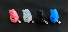 Wholesale New parcel force Bird locked Male Silicone Chastity Device COLOR sex toys factory