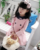Wholesale Hot autumn spring children long sleeve dress Girl s petticoats outfits Girl dress Kids girl clothing