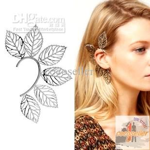 Big Fashion Earrings For Women Big Leaves Ear Cuff Earrings