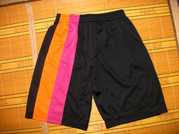 Wholesale Basketball Shorts Black Rainbow Size M L XL XXL Mix Order Stitched High Quality