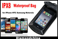 Wholesale HQ IPx8 Waterproof Bag Case for Phone MP3 MP4 Diving case with Earphone and Armband