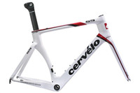 Wholesale 2012 cervelo s5 aero road bike carbon frame fork seatpost clamp headset size cm white color