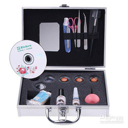 Wholesale Eye Lash False Eyelashes Extension Kit Full Set Case