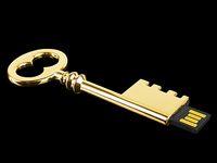 No flash drive 8gb key - Genuine gb gb gb metal safe box key usb flash drive pen drive memory stick UM0039