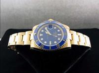 Wholesale Luxury Wristwatch Sapphire SUB Automatic K YELLOW GOLD CERAMIC BEZEL Sport Mens Men s Watch