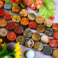 Wholesale 14MM Picasso Jasper Coin Loose Beads Gemstone quot
