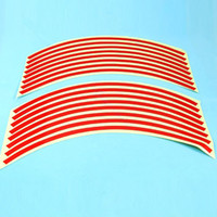 Wholesale Fashion Reflective Motorcycle Car Stripe Wheel Decal Tape Red