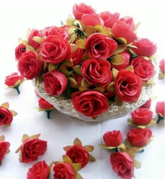 100pcs Red Roses Artificial Silk Flower Heads Wedding Bridal Bouquet Decoration 1.18""