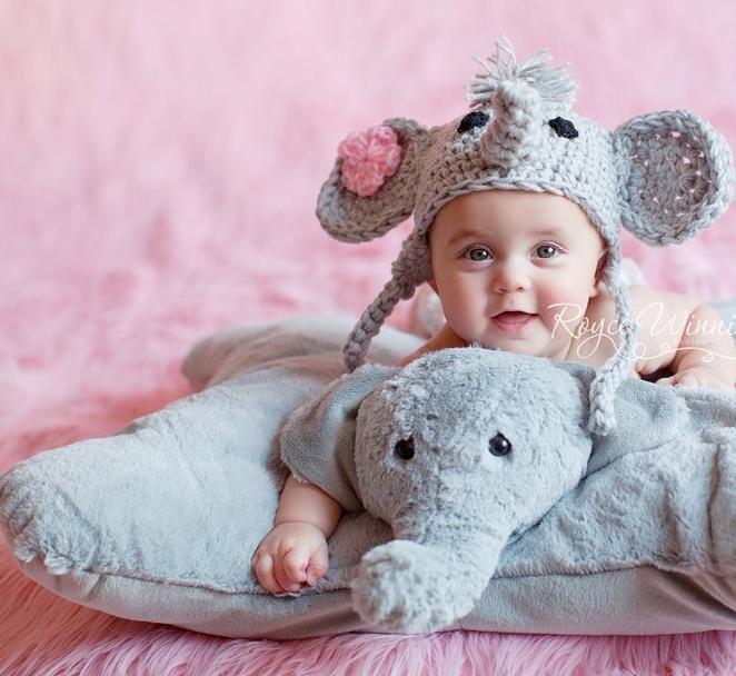 Crochet Elephant Hat Pattern Elephant Baby Girl Crochet Hat