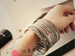Retro Elements Bracelets Wild Ancient Silver Multilayer Bracelets