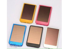 Wholesale Mobile power MAh Solar battery Charger for Phone MP3 MP4 iphone G S camera colors via EMS