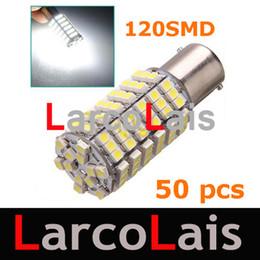 Promotion 50pcs 120 SMD 3528 LED 1156 BA15S Pure White Turn Signal LED Light Brake Park Bulb Lamp