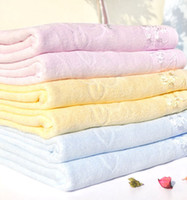 beach towels embroidered - 100 Cotton Soft Embroidered BATH BEACH TOWELS Pink yellow blue cm New mix