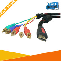 Wholesale 10FT M HDMI to RCA Audio Video AV Component Cable Converter HDTV