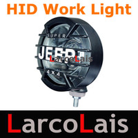 Wholesale 2pcs V V W W quot Flood Spot Beam Tractor Vehicle Car Truck HID Xenon Driving Work Light Lamp