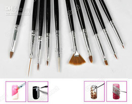 Wholesale 2012 Painting Pen Polish Brushes Tool Set Black Gel Nail Art Design Tips Drawing