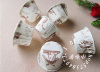 Wholesale Medium Beautiful Wind Mill White Cake Cups Cupcake Cases Polka Dot Snowflake Design