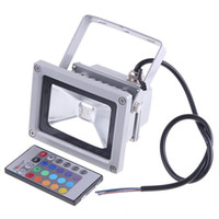 Wholesale 900LM W outdoor RGB LED Flood Light Waterproof IP65 Lamp With Remote Control AC V