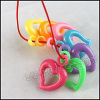 Wholesale Colorful Plastic Heart Charm Pendants Charm Heat Plastic Pendant Beads Findin