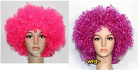 Wholesale Wonderful dance party fans first explosion carnival holidays curly hair clown wig good quality