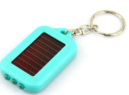 Solar pannel LED light torch Flashlight light keychain 10pcs