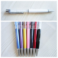 Wholesale OEM white and colorful Crystal ballpoint pen for good luck Elegant diamond free DHL