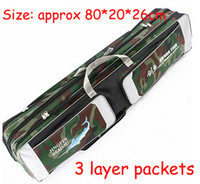 Wholesale FreeShip Piece Green Camouflage Multi purpose Layer Packets cm Fishing Bag Rod Lures Spinners Fishing Tackle Tool Bag