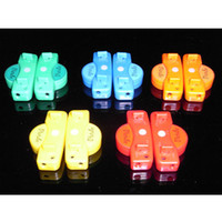 Wholesale Fiber Optic LED Shoe laces shoelaces neon led strong light flashing shoelace