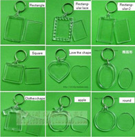blank keyrings - acrylic blank photo keychain frame keyring diy yourself photo keychain