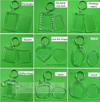 achat en gros de photo trousseau cadres gros-Keychain en acrylique de photo keychain de cadre, diy vous photo keychain vente en gros libre d'expédition: