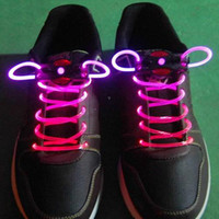 Wholesale fiber optic Promotion Best Price Disco Flash light up LED Shoelace color for choice