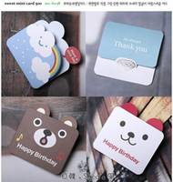 Wholesale Lovely Cartoon Mini Children Festival greeting card Baby Birthday card Christmas card Benison card