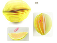 Wholesale DHL free ship Novelty Items Fruit Notepad Memo pad Note paper Sticky notes of Pear Apple