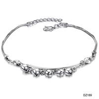 Wholesale Silver plating platinum bell girl anklet Summer Jap flaps anklet hot selling DZ189