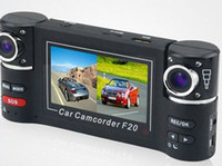 Wholesale HD P Car DVR Dual Cam H video recorder Screen degree rotated lens F20 update to F30