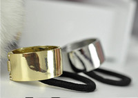 Wholesale Fashion Stylish Personality Metal Hair Cuff Ponytail Holder NEW gold color