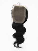 Wholesale 12 quot quot quot quot Body Wave Indian Remy Human Hair Top Lace Closure piece B