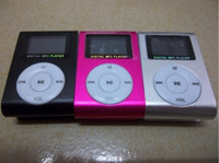 Wholesale 30pcs Clip MP3 Players with OLED Screen support max GB SD TF Card mp3 usb earphone box