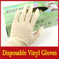 Wholesale 100PCS One time PVC vinyl gloves disposable hairdressing medical examination glove