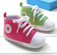 Wholesale Cute baby football Lace Up shoes infant tennis booties First Walker Shoes Blue Green Red color V1927
