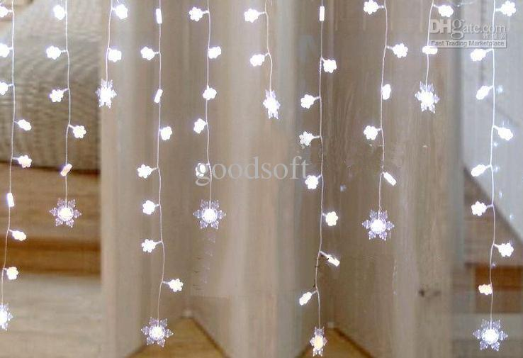 2*1 Metres White Snowflake Curtain Light Led Light String Wedding Lights Patio Light Strings ...
