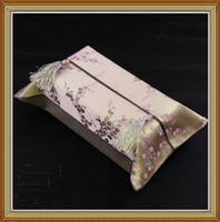 Wholesale Facial Tissue Box Holder Car High quality Silk Fabric Tassel Craft pack mix Free