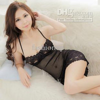 Wholesale 2014 Hot Sale Sexy Lace And Spandex Nets Lingerie Piece sets Babydoll Sexy Lingerie Batty MY