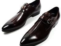 Wholesale Tide of New England pointed business men with men s shoes of leather shoes N7