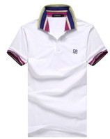 Men's Cotton Polo Shirts Mens Short Sleeve Custom- Fit Polo S...