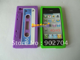 Wholesale Cassette Type Soft Silicone Case for iPhone G S High Quality